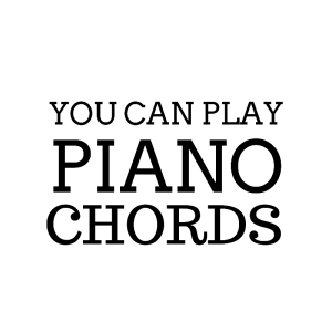 You Can Play Piano Chords Logo