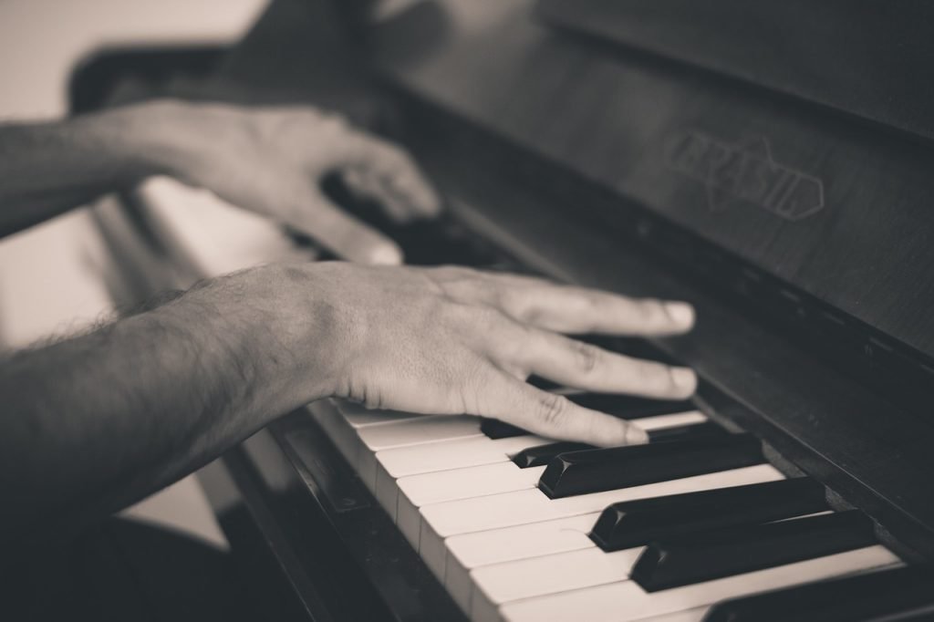 piano, keys, hands